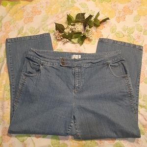 C.J. Banks wide leg trouser jeans sz 22W